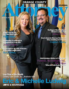 The Ludwig Law Center was featured as the Law firm of the Month in a 2015 edition of the Orange County Attorney Journal